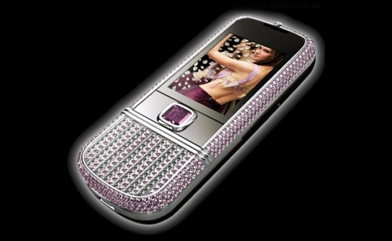 Nokia 8800 Arte Pink Diamonds 1