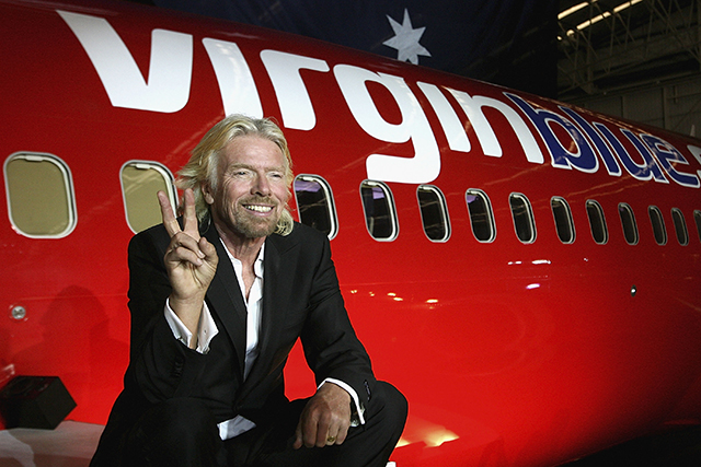 Delta Goodrem And Richard Branson Celebrate Virgin Blue's Anniversary
