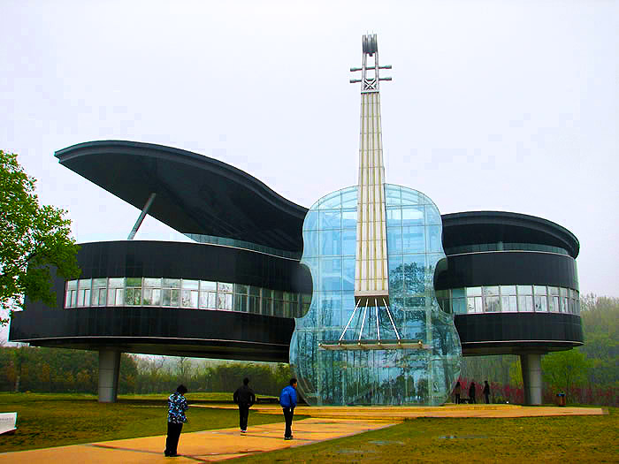 Piano-Shaped-Building-Huainan-China
